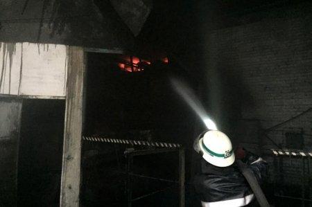 В Днепропетровской области горел завод